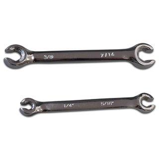 Offener Ringschlüssel-Satz SAE 6-tlg Bremsleitungsschlüssel Zollwerkzeug zöllig